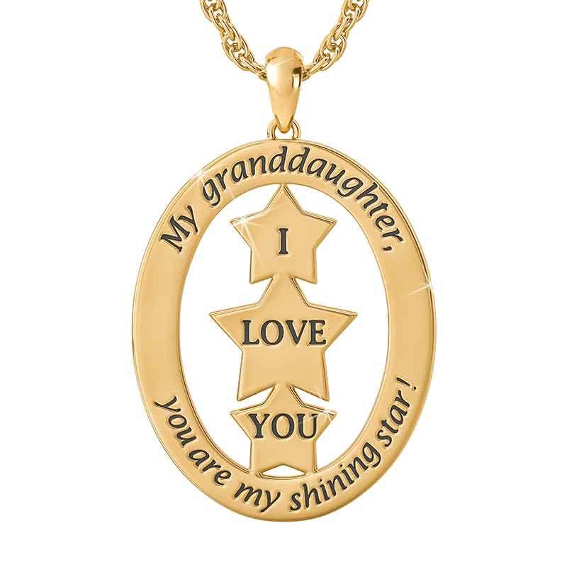 My Granddaughter You Are My Shining Star Diamond Pendant 2730 001 1 2