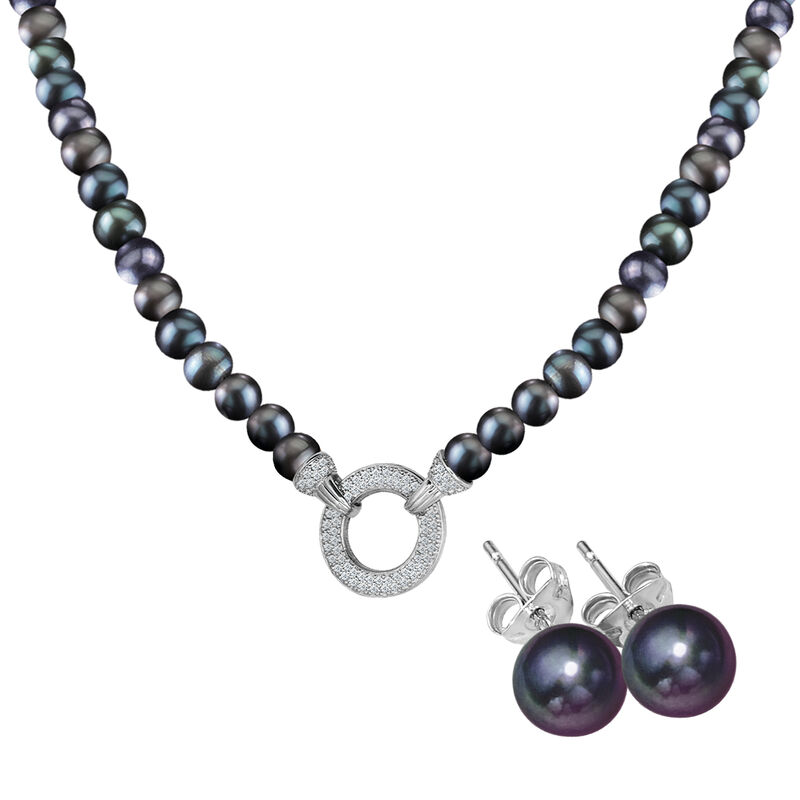 Magical=Moments Black Pearl Necklace 6922 0028 a main