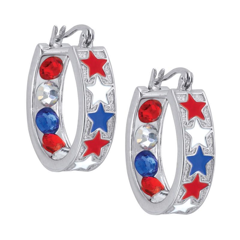 Crystal Celebrations Hoop Earrings 4608 0032 b july