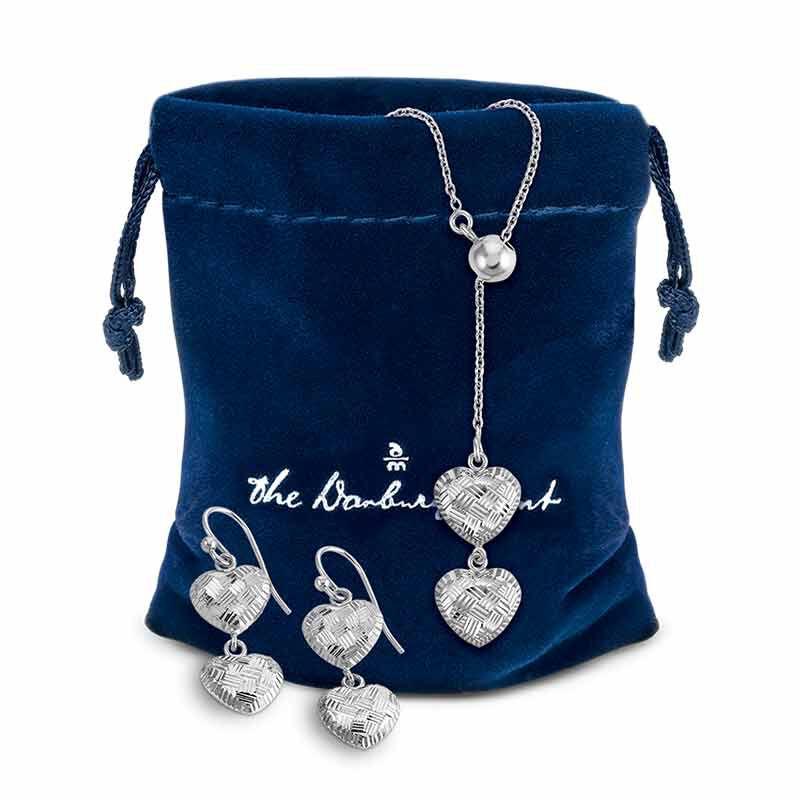 Sensational Silver Pendant  Earring Set 6367 001 2 4