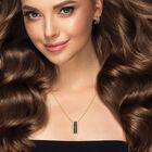 Mocha Desire Pendant Earring Set 6730 0012 m model
