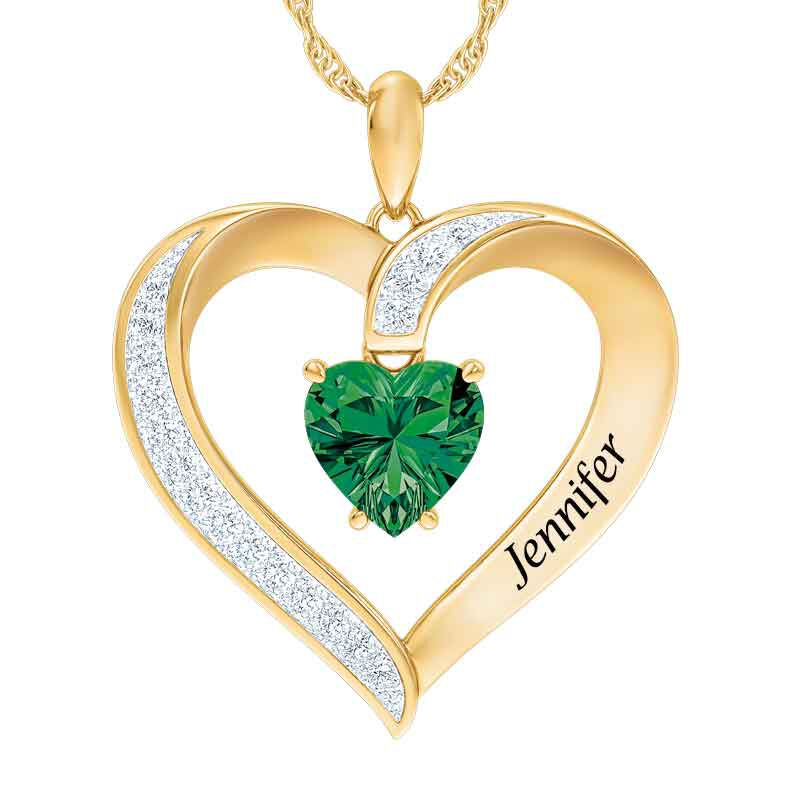 Personalized Birthstone Heart Pendant 5447 001 8 5