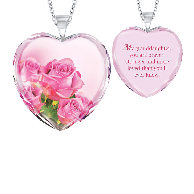 Brave Strong and Forever Loved Granddaughter Crystal Pendant 6964 0019 a main