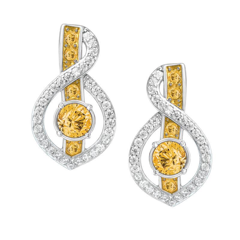 Birthstone Wave Earrings 2202 0069 k november