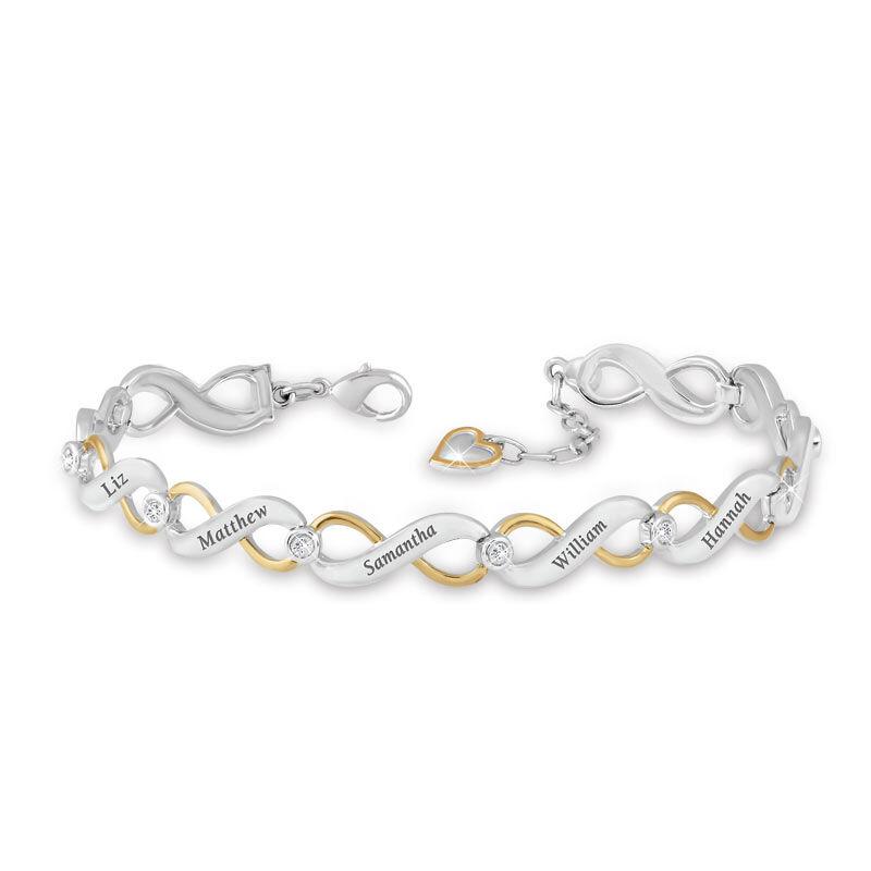 Family Forever Personalized Diamond Bracelet 2891 006 5 1