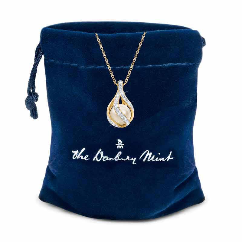 Embraced with Love Granddaughter Pearl  Diamond Necklace 2274 001 3 2