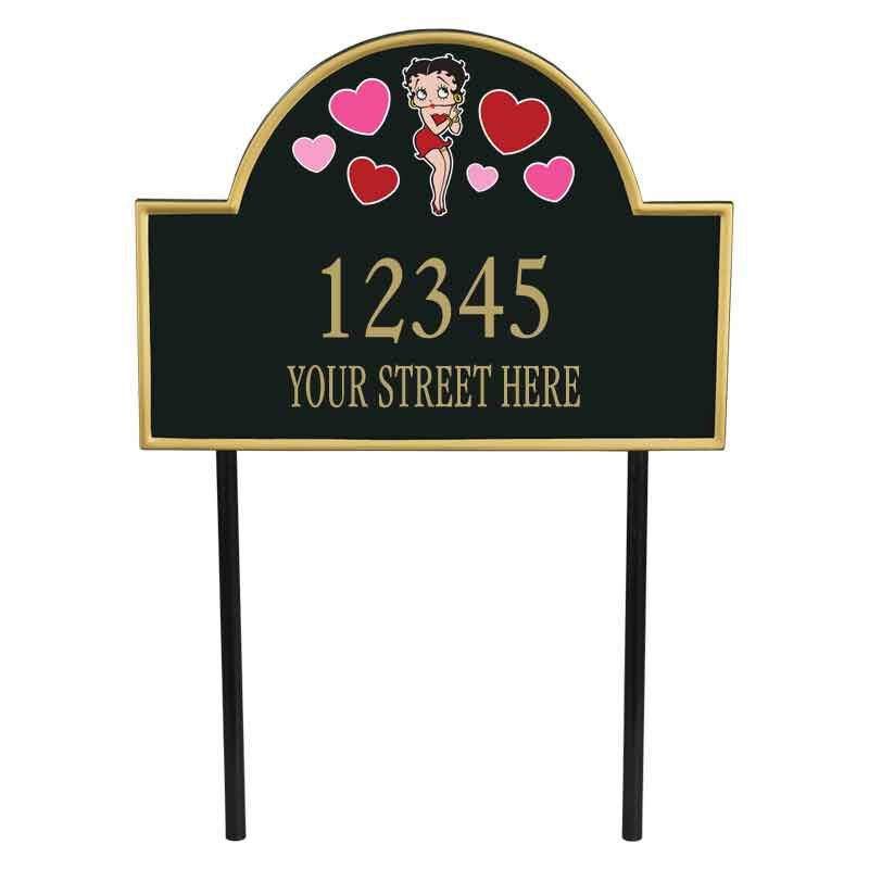 The Betty Boop Personalized Address Plaque 1086 001 3 1