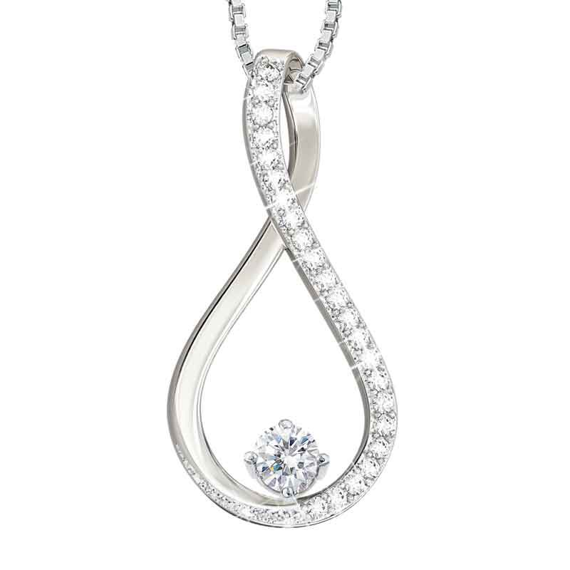 The Birthstone  Diamond Infinity Pendant 5200 001 5 4