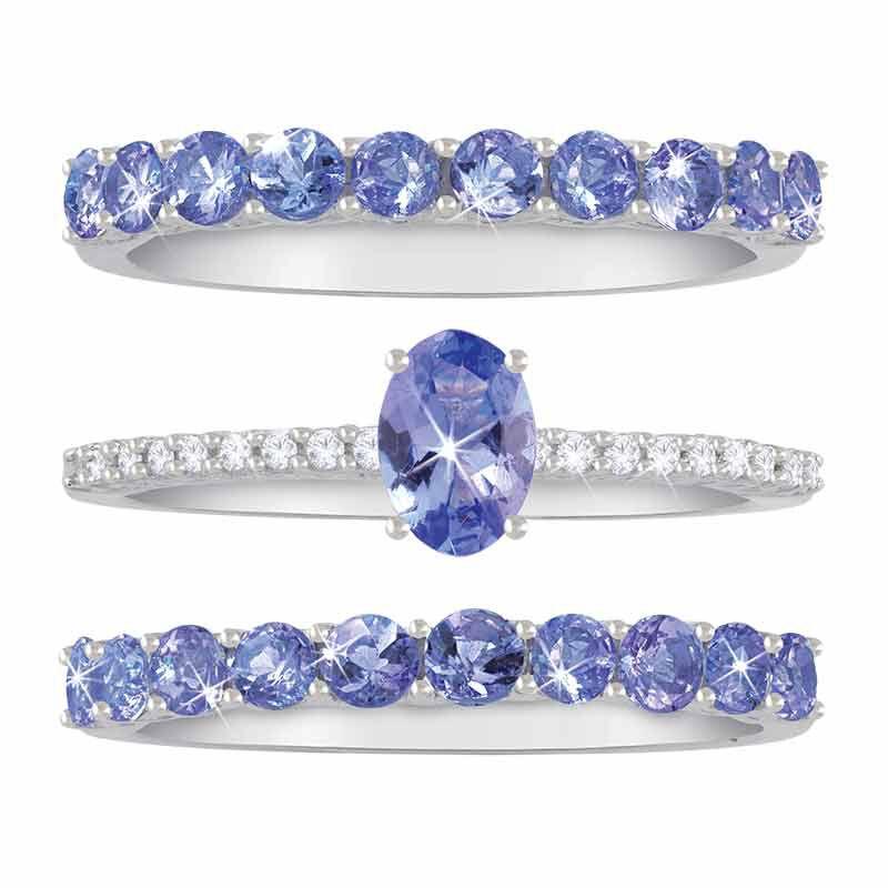 Purple Majesty Tanzanite  Diamond Ring Set 2107 001 6 2