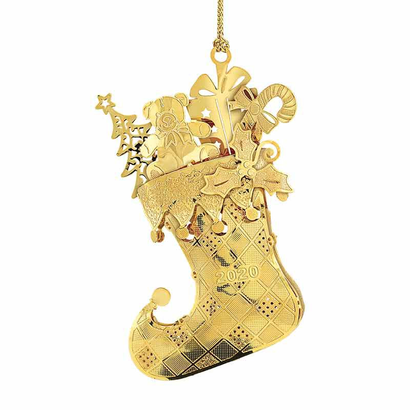 The 2020 Gold Christmas Ornament Collection 2161 006 8 9