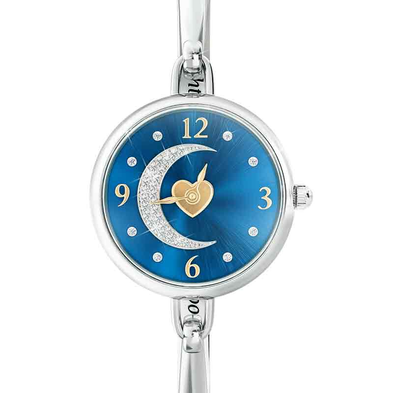 My Daughter I Love You to the Moon and Back Crystal Watch 2405 001 5 1