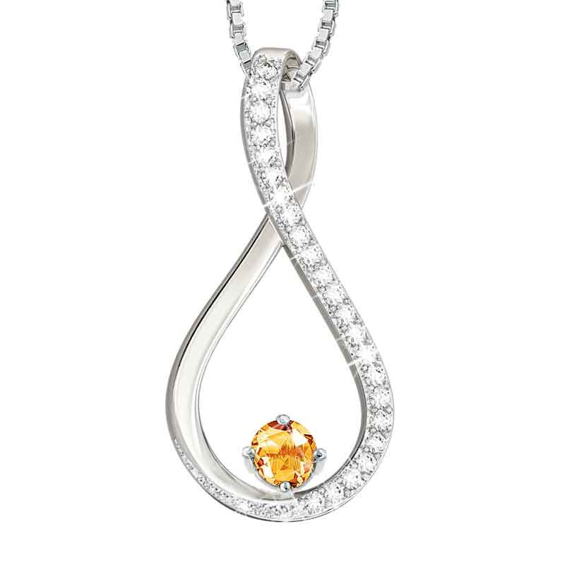 The Birthstone  Diamond Infinity Pendant 5200 001 5 11