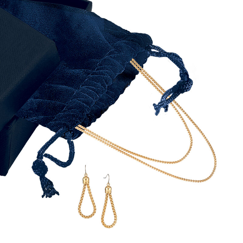 Golden Glow Triple Neck Ear Collection 10580 0015 g gift pouch