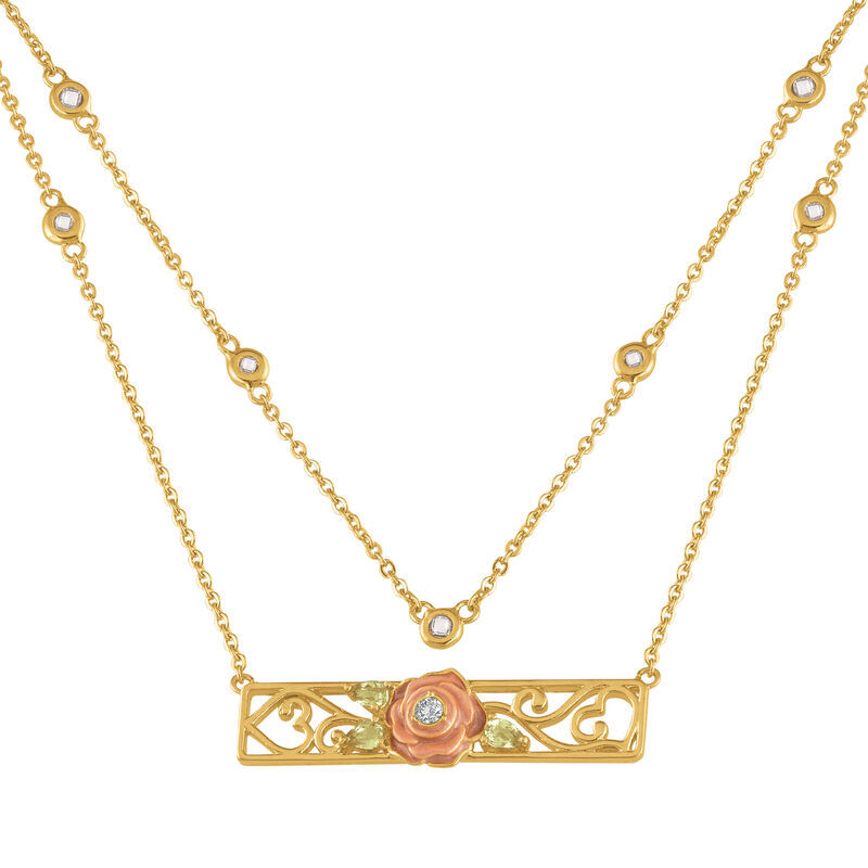 I Will Always Love You Layered Daughter Rose Necklace with card 6770 001 3 1