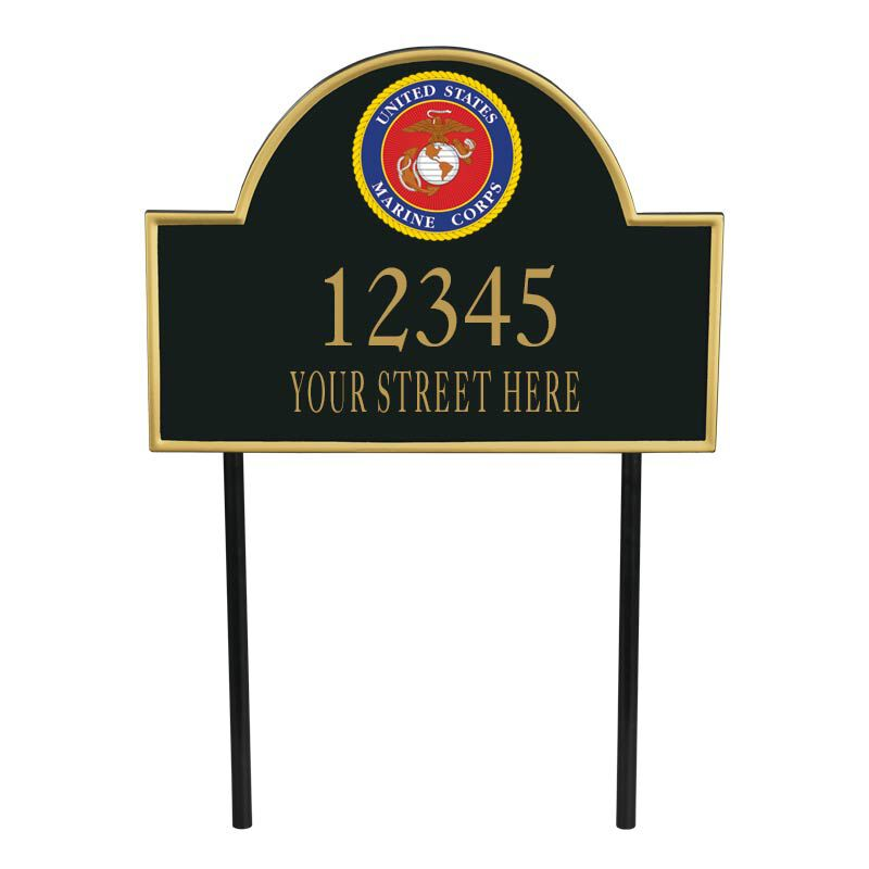 US Marine Corps Personalized Address Plaque 5718 003 6 1