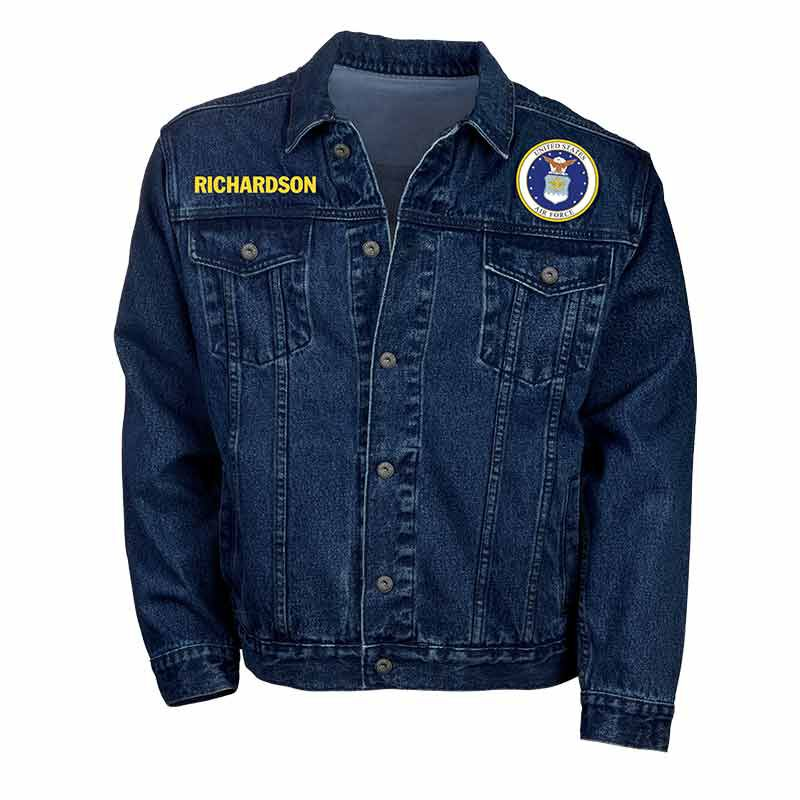 The Personalized Mens US Air Force Denim Jacket 1365 003 1 1