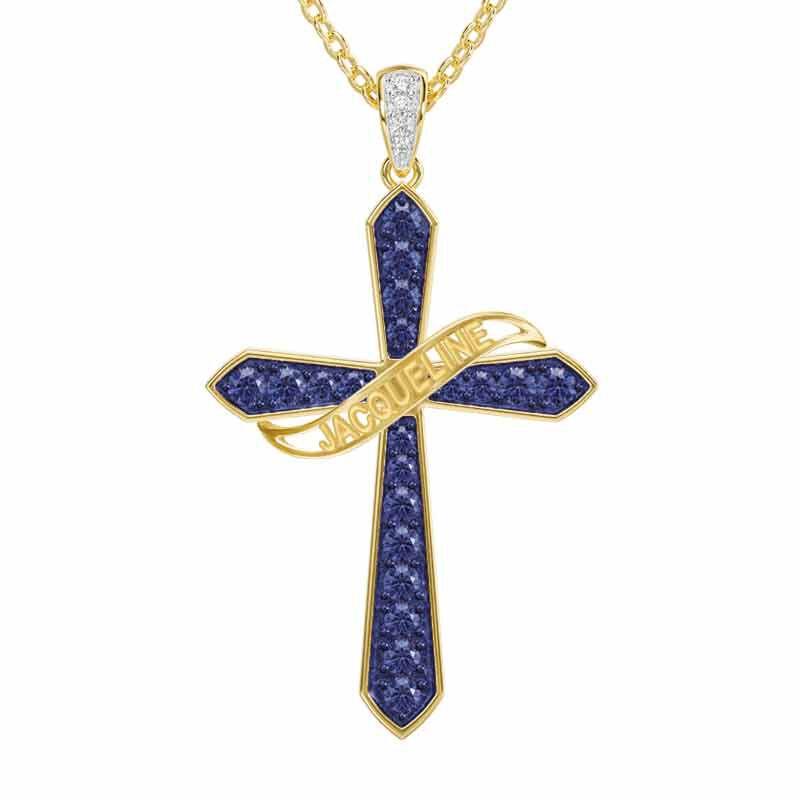 The Birthstone  Diamond Cross Necklace 6787 001 4 2