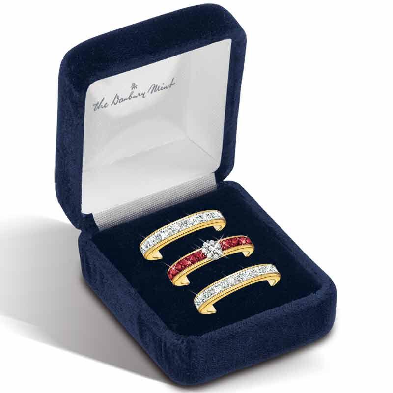 A Dozen Rubies Diamond Ring Set 5289 002 7 3