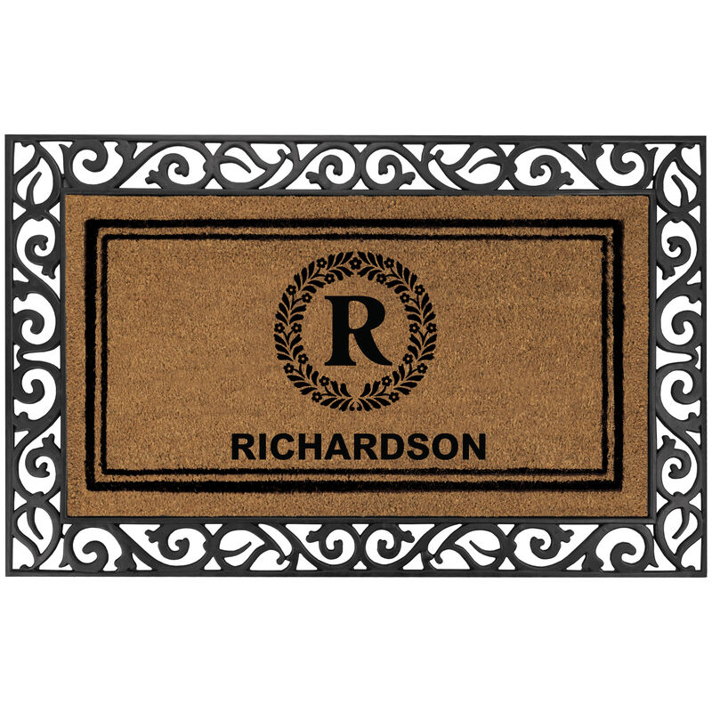 The Monogrammed Welcome Mat 6102 0012 a main