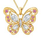 The Birthstone Butterfly Diamond Pendant 2030 001 8 10