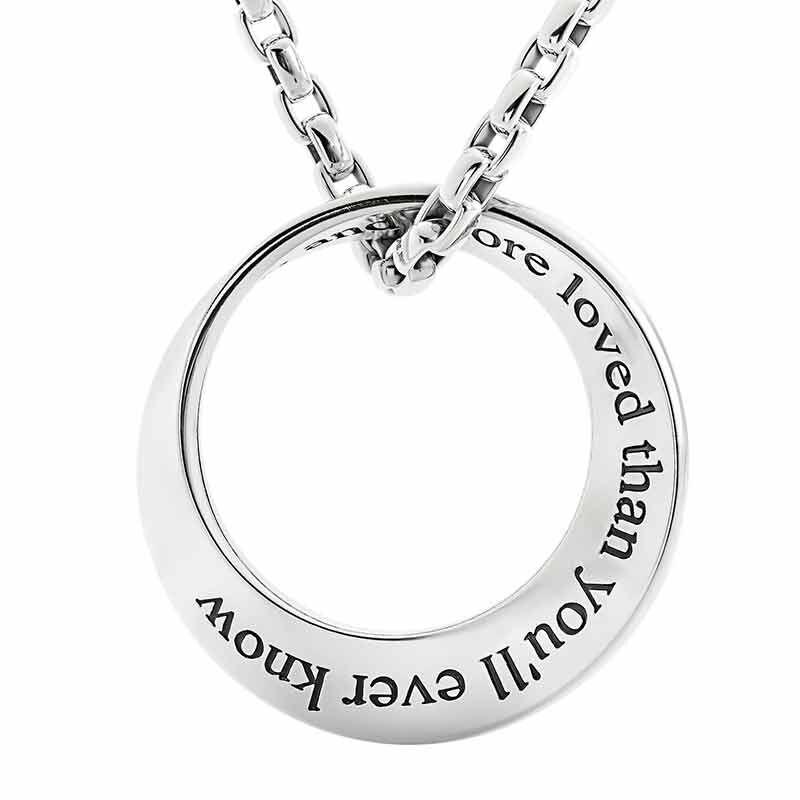 Son Infinity Circle Black Sapphire Pendant 6463 001 5 2