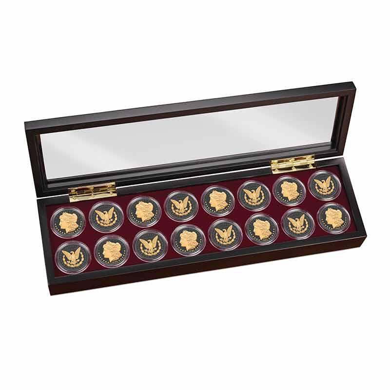 The Ruthenium  24KT Gold Enhanced Morgan Silver Dollars 1798 001 2 3