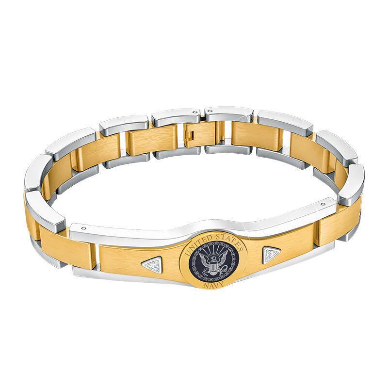 US Navy Personalized Diamond Bracelet 5787 004 0 2
