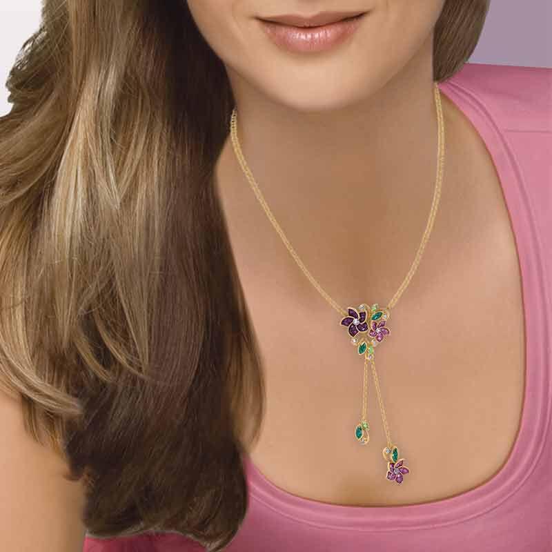 Violets in Bloom Crystal Necklace 2920 001 1 5