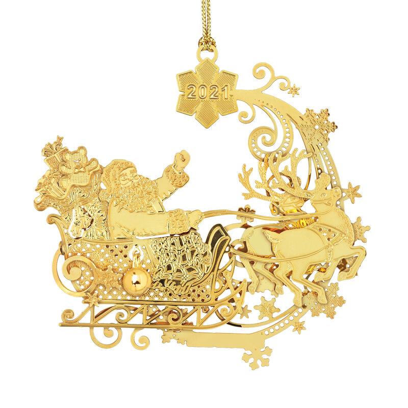 2021 Annual Gold Christmas Ornament 6541 0037 a main