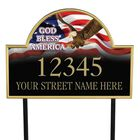 God Bless America Personalized Address Plaque 1092 003 1 1