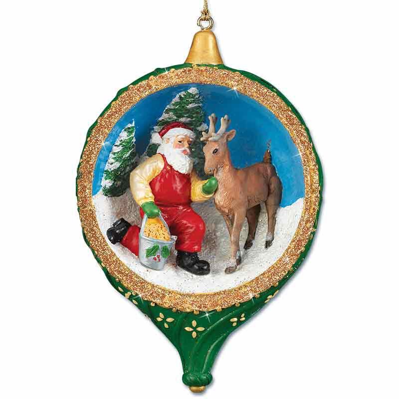 Santa at the North Pole Ornament Collection 5599 001 4 3