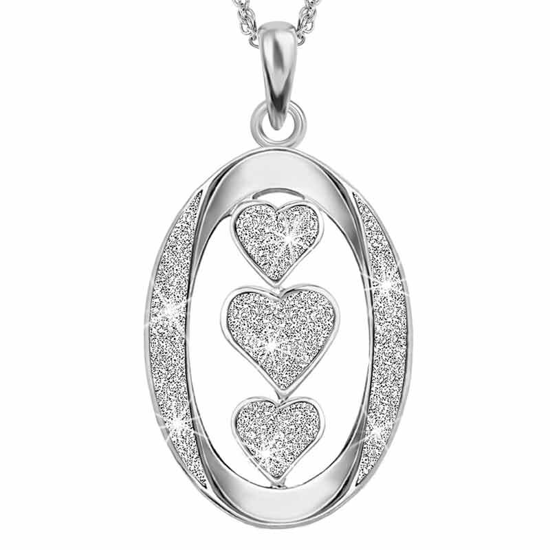 Granddaughter I Love You Diamond Pendant 1887 001 4 2