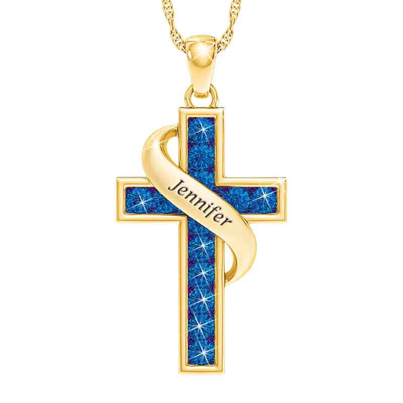 Personalized Birthstone Cross Pendant 5657 001 3 9