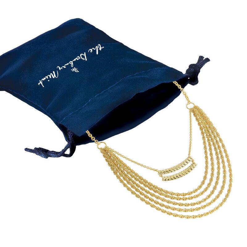 Sunburst Diamond cut Statement Necklace 6899 0019 g gift pouch