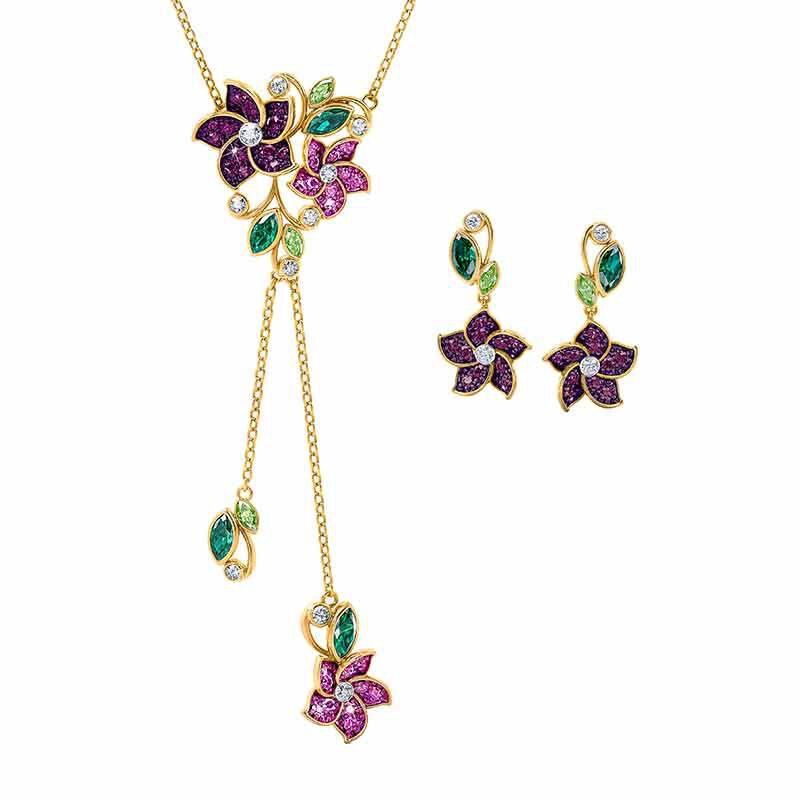Violets in Bloom Crystal Necklace 2920 001 1 1