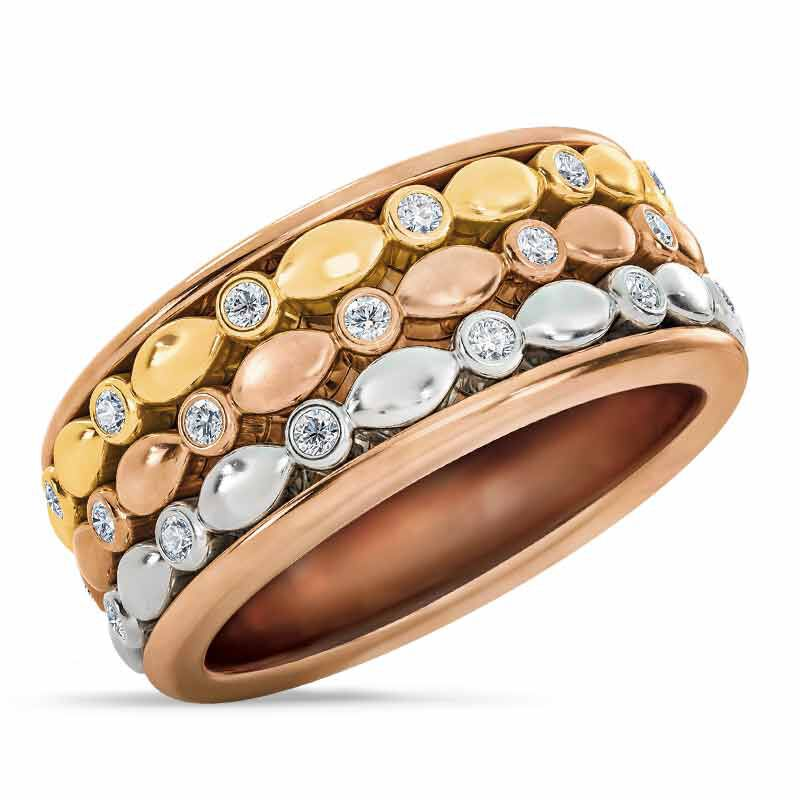 Copper Trinity Spinner Ring 4948 001 5 1