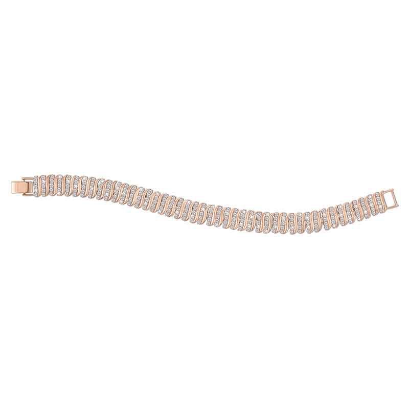 Captivating in Copper Simulated Diamond Bracelet 6576 001 9 3