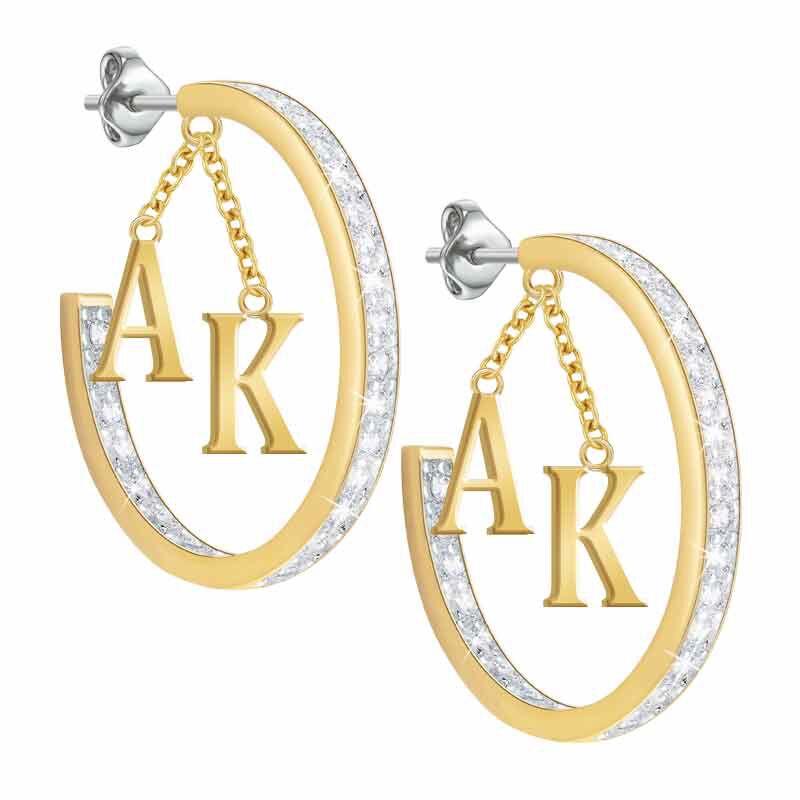 Initial Diamonisse Hoop Earrings 1207 005 8 3