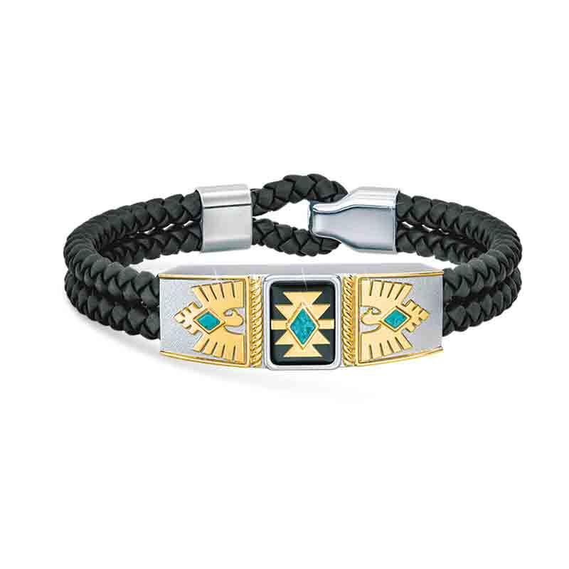 Grandson Southwest Leather Bracelet 4968 001 0 1