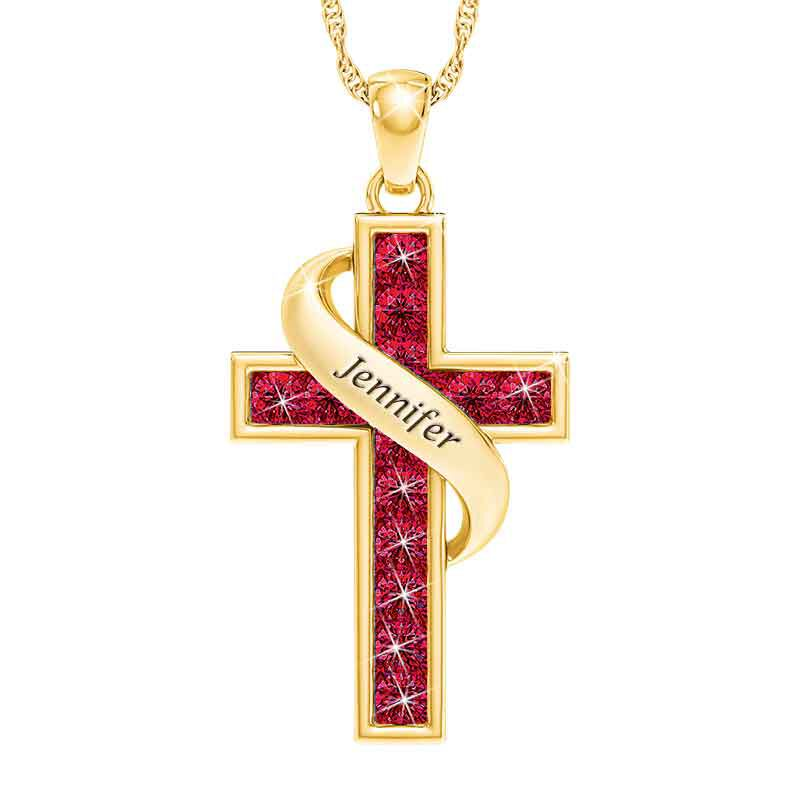 Personalized Birthstone Cross Pendant 5657 001 3 1
