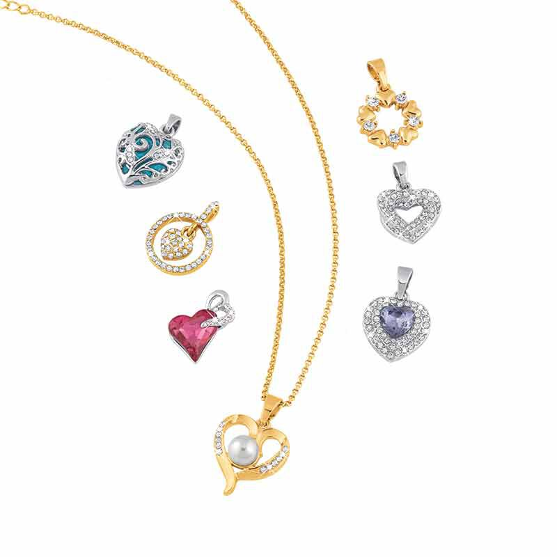 Treasures of the Heart Pendant  Jewelry Box Set 2169 001 1 2