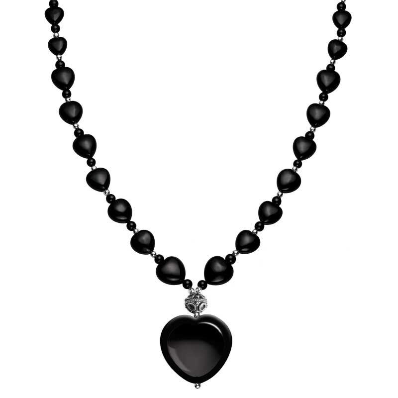 Onyx Heart Necklace 8309 001 9 1