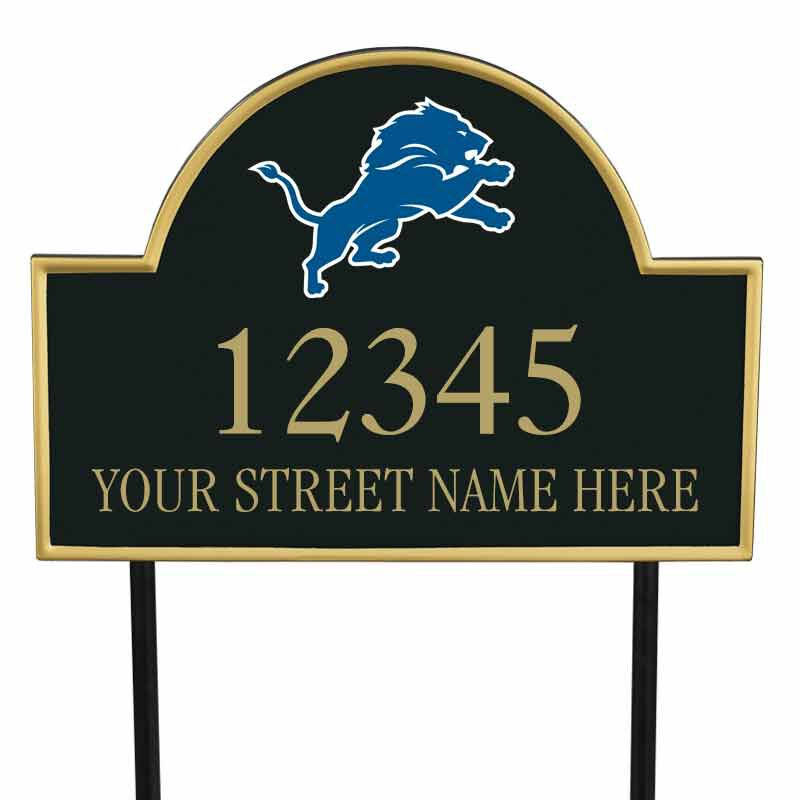 The NFL Personalized Address Plaque 5463 0355 s lions