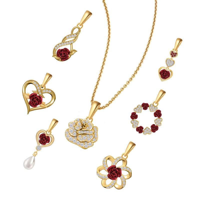 Romantic Roses Pendant Jewelry Box Set 10183 0016 b chain