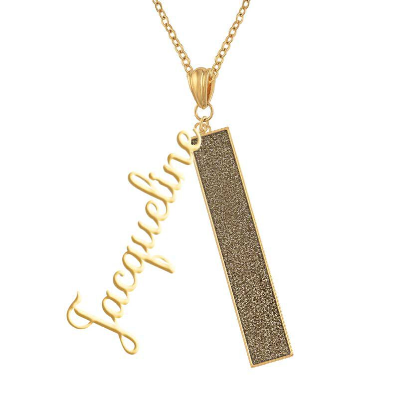 Personalized Birthstone Bar Necklace 6800 001 7 8