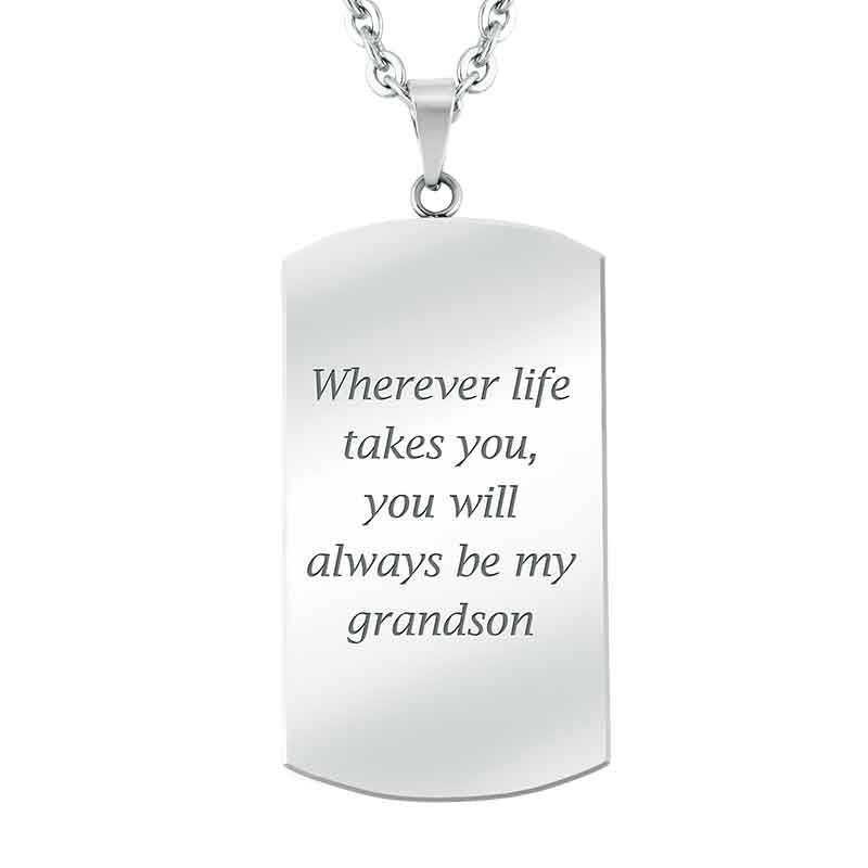 For My Grandson Personalized Dog Tag 2981 006 6 2