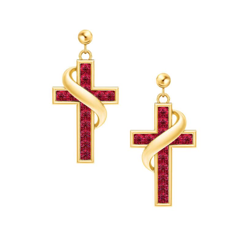 Birthstone Cross Earrings 5657 0021 a main
