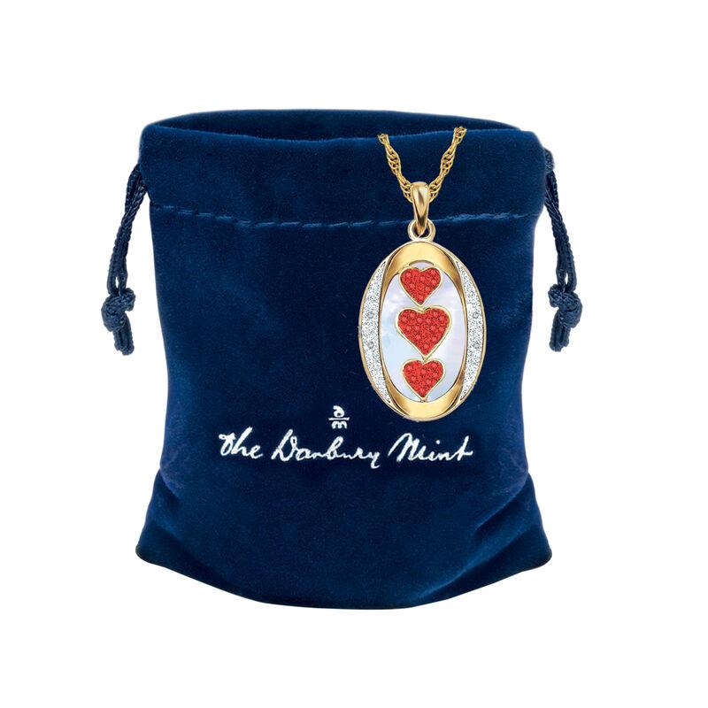I Love You Custom Birthstone and Diamond Pendant 10702 0018 p gift pouch