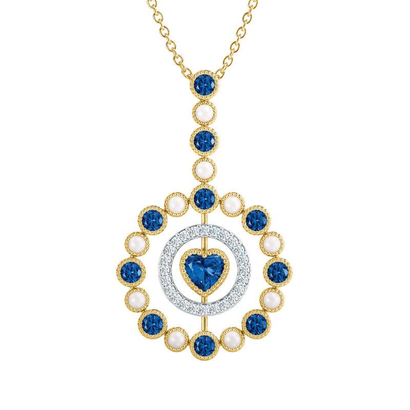 Love Embrace Birthstone Diamond Necklace 6928 0014 i september