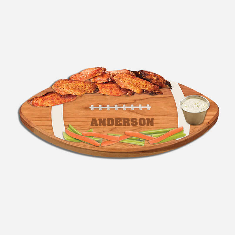 The Personalized Football Serving Board 5610 0027 d wings